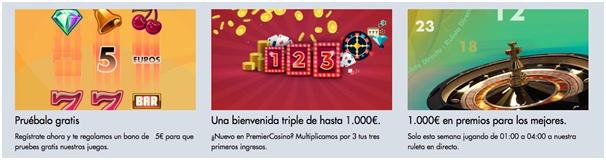 Bonos Premier Casino
