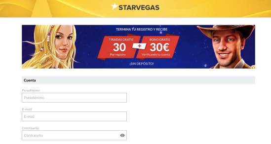 Cómo registrarse en Starvegas