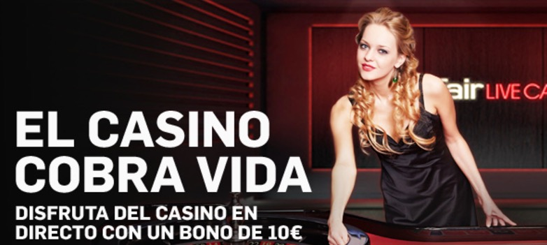 Bono casino en vivo Betfair