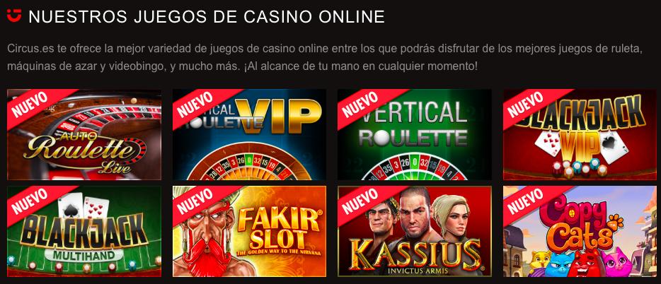 Circus Casino codigo promocional