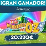 Starcasino tragaperras Winnings of Oz