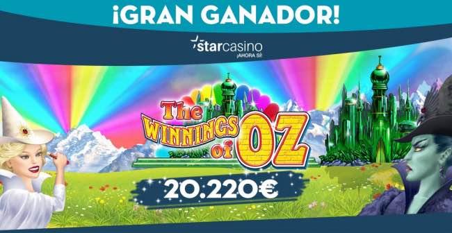 ¡Más de 20.000€ de premio en las tragaperras de StarCasino.es!