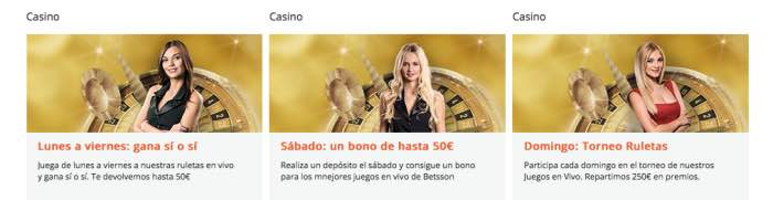 Casino en vivo Betsson